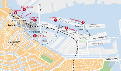 Mooring Places in Amsterdam